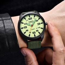 XINEW Fashion Simple Men Watch Outdoor Date Nylon Strap Military Sports