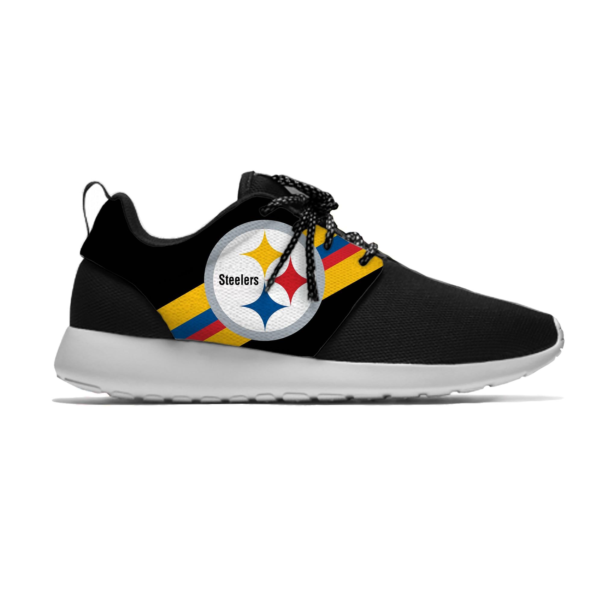 Steelers, дышащие спортивные кроссовки для отдыха, Питтсбург, Футбольная команда, фанаты, легкая повседневная обувь для мужчин/женщин, кроссовк