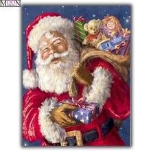 Алмазная живопись «сделай сам» Подарочная вышивка Санта Клауса