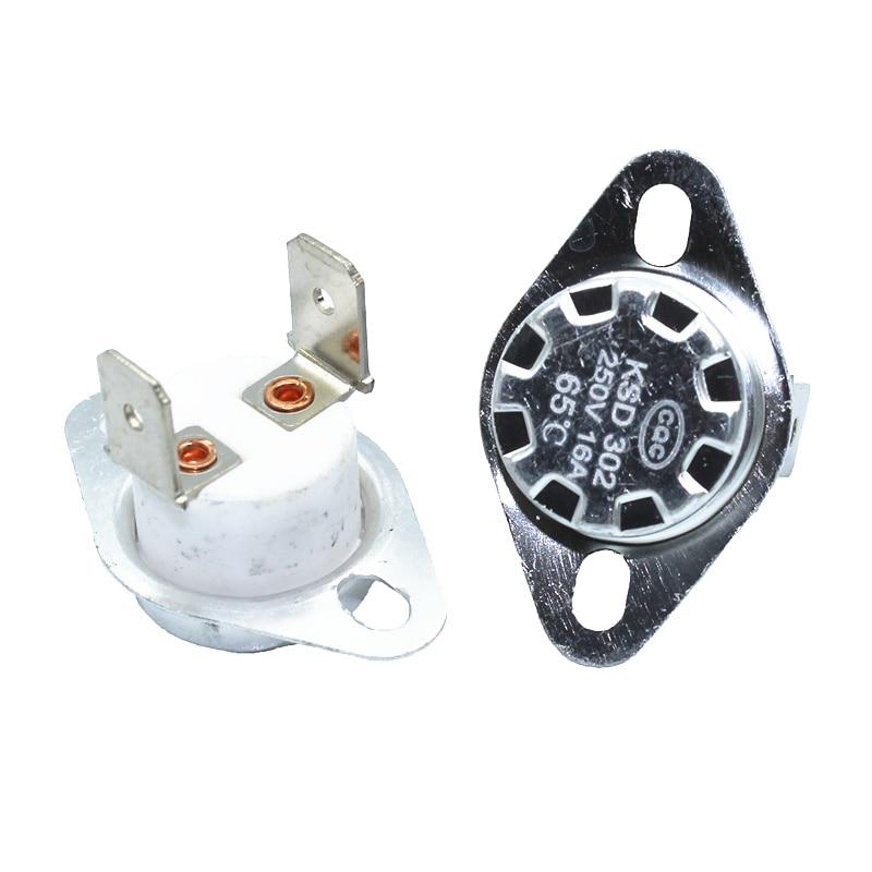 5pcs Manual Reset Temperature Switch 165 °C NC Bimetal disc thermostat KSD301