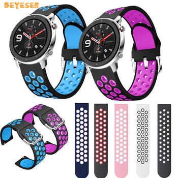 22mm bracelet strap for xiaomi huami amazfit pace stratos 2 gtr 47mm band for samsung gear s3 pulsera for huawei 2 pro gt correa 22mm Silicone Strap for Huami GTR 47MM for Xiaomi huami Amazfit 47mm Watch Band for Huawei Watch GT GT 2 46mm Straps Accessories
