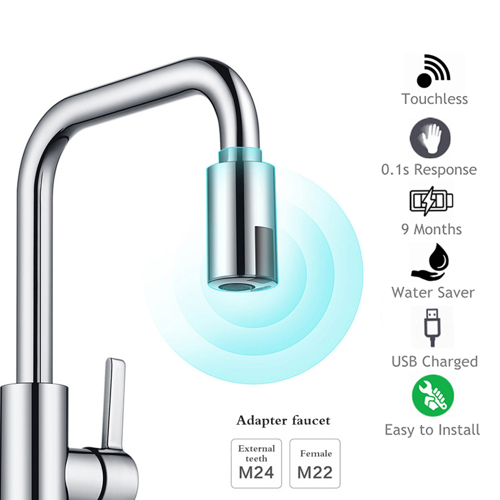 Smart Sensor Kitchen Faucets Water Saving Sensor Non Contact Faucet Infrared Sensor Adapter For Kitchen Bathroom Smart Sensor Kitchen Faucets Water-Saving Sensor Non-Contact Faucet Infrared Sensor Adapter For Kitchen Bathroom sensor Faucet
