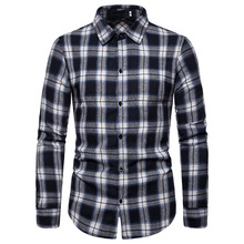 Fashion Shirts Men Plaid Formal Wear Hombre New MOOWNUC Autumn Male Long Sleeve Slim Coverall Smart Casual