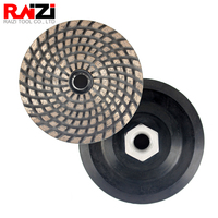 Raizi 4 inch/100 mm Sintered Metal Diamond Grinding Disc with Adapter for Concrete Granite Marble Abrasive Stone Grinder Wheel
