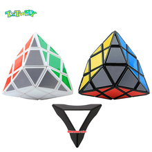 купить 4-Corner-Only Magic Cube Rice Dumplings Twisty Puzzle Cube Educational Brain Teaser Twisty Puzzle cubo magico Educational Toys по цене 454.62 рублей