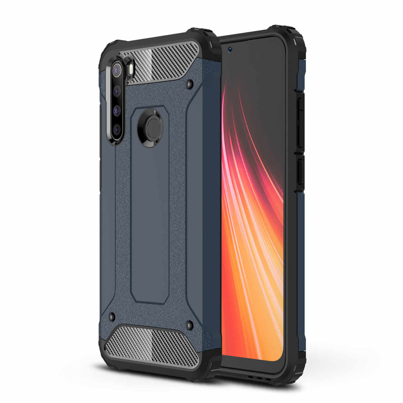 For Redmi Note 8 Case Luxury Rugged Hybrid Armor Case For Xiaomi Redmi Note 8 Pro Cover Shockproof Accessories Xs0502 Phone Case Covers Aliexpress