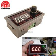 Controlador de velocidad de Motor CNC, interruptor regulador de pantalla Digital, DC 9-60V, 12V, 24V, 12A, 20KHz, 500W, PWM ajustable