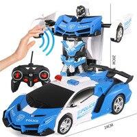 Transformation Roboter Auto 1:18 Verformung RC Auto Spielzeug Induktion led Gesture sensing Fernbedienung Auto Modelle RC Kampf Spielzeug geschenk