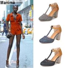 цена на 2020 new women's shoes summer fashion square high-heeled shoes women round head platform shoes women high-heeled sandals women