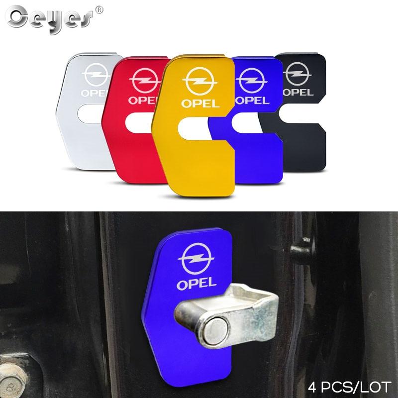 Ceyes 4 pièces accessoires de voiture protection porte serrure couvre boucle étui pour Opel Opc ligne Insignia Astra emblème Auto décoration style