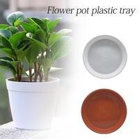 1pcs 6 크기 플라스틱 정원 꽃 냄비 식물 접시 물 트레이 기본 실내 야외 액세서리