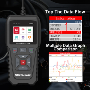 Image 5 - YA301 12V Auto Foutcodes Gereedschap Volledige OBD2 Functies Vin Reader Grafiek Live Data Turn Off Check Engine licht
