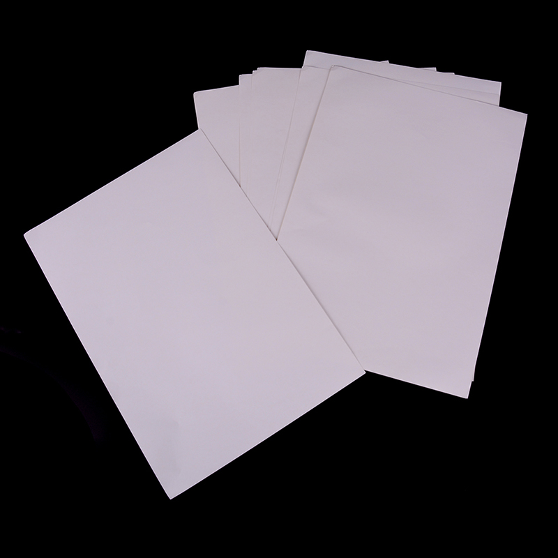 10pcs/set A4 Matt Printable White Sticker Self 210mmx297mm Iink Office Adhesive Paper For