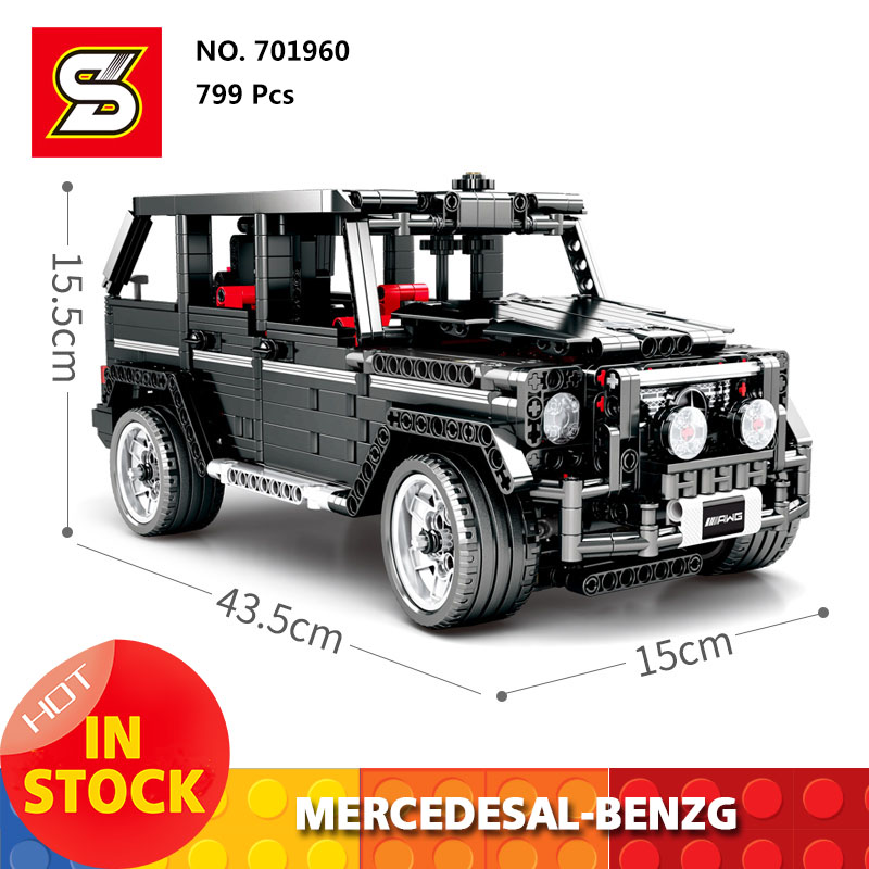 Sembo <font><b>701960</b></font> Compatible New Technic series Mercedesal-benzg big G500 car building blocks set Classic Kids education model Gift image