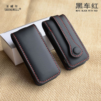 sncn leather car key case cover key wallet bag keychain holder for porsche 718 boxster cayman 911 cayenne macan panamera Top Cow Leather Car Styling Key Case For Porsches Boxster Cayman 911 Panamera Cayenne Macan Fashion Auto Key Cover Accessories