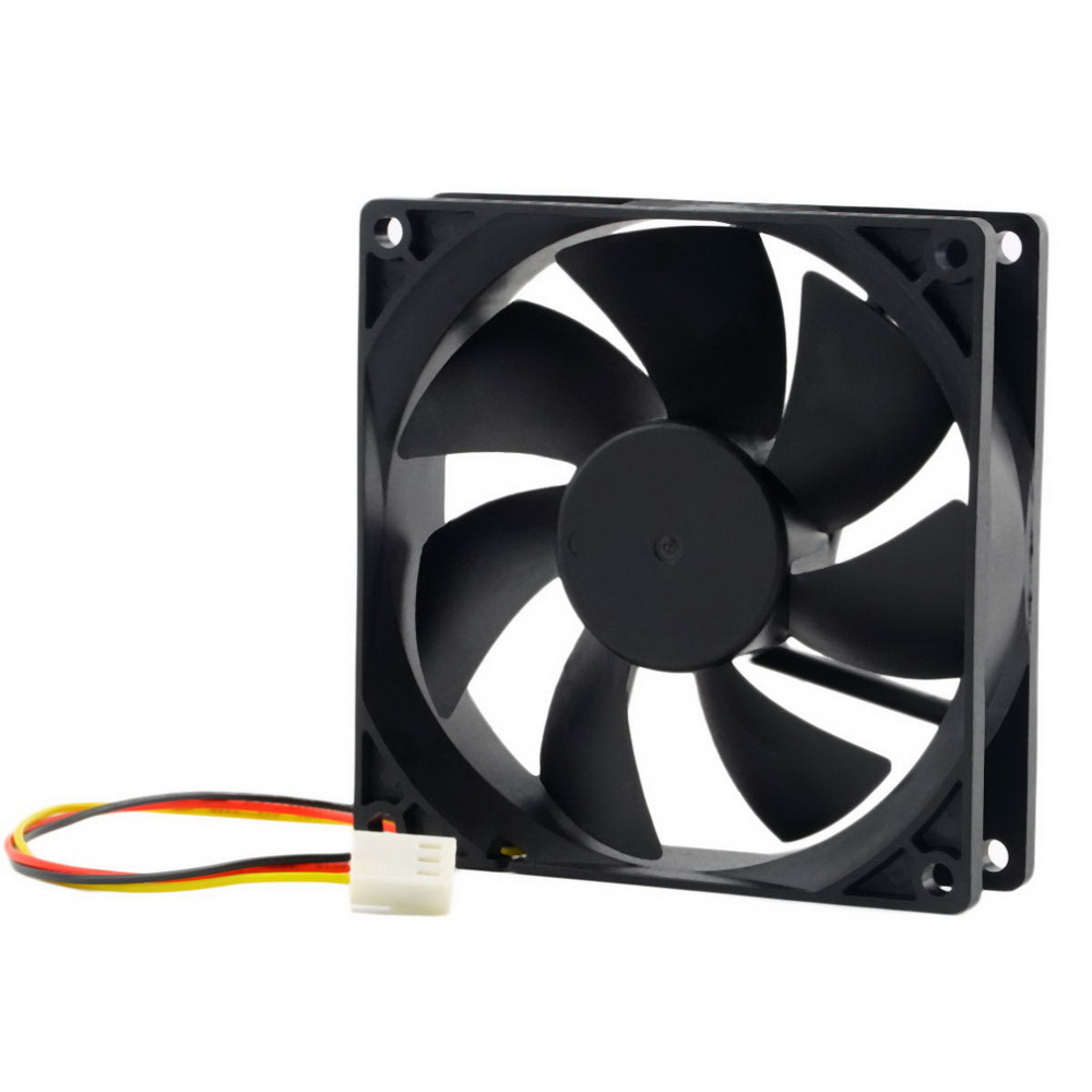 12V 3Pin Fan Cooler 9cm 90x25mm 90mm 65 CFM DC PC Cooling Fan CPU Heat Sinks Cooler
