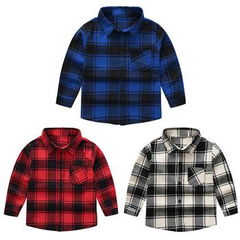 Jesienno-zimowa moda bawełniana dziecięca chłopięca bawełniana koszula dziecięca chłopięca koszule w szkocką kratę odzież dziecięca Casual topy odzież wierzchnia tanie i dobre opinie MUQGEW CN (pochodzenie) Na co dzień COTTON Poliester Pełna Pasuje prawda na wymiar weź swój normalny rozmiar Suknem