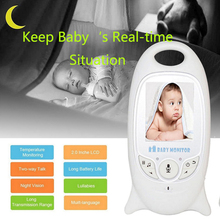 English Pattern Wireless Baby Monitor 2 LCD Display Screen Camera Video 2-Way Talk Lullaby Night Vision Temperature Monitoring