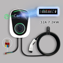 32A 1 phase EV Charger J1772 Electric Vehicle Charging Station Electric Car Wallbox Plug and Play for Nissan Leaf