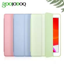 GOOJODOQ for iPad 2018 Case 9.7 Air 2 Air Case iPad 6th Generation Case Funda Slim TPU Silicone Shell Smart Cover for iPad Air(China)
