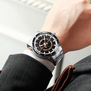 Image 4 - CURREN New ビジネスデザインウォッチメンズラグジュアリーブランドクォーツ腕時計ステンレススチール時計ファッション紳士腕時計 Relojes