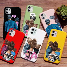 PUNQZY Mother Holiday Gift MoM Baby Phone Case For iPhone XR 11 PRO MAX 8 7 6 plus XS MAX Soft TPU Case Father's Day Love Gift punqzy cute baby super girl mom love case for iphone 11 pro max 6 7 7s 8 plus xs xr xs max soft tpu transparent love mom love