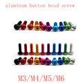 10 шт. M3 M4 M5 M6 * 5/6/8/10/12/14/16/20/25 Цветной алюминиевый шестигранный гнездовой винт