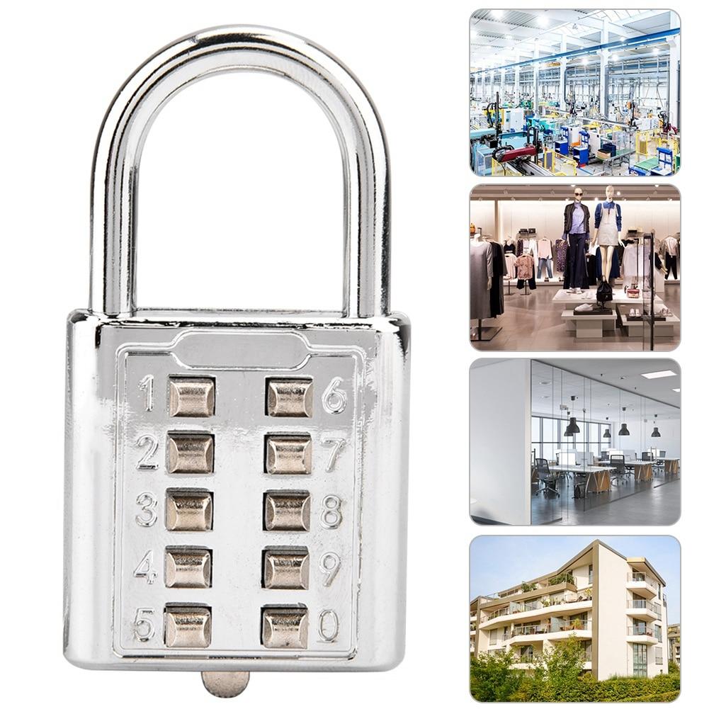 3 4 Digit Password Lock Combination Zinc Alloy Security