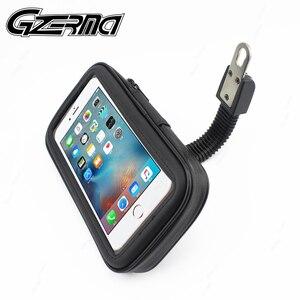 Image 1 - Universal Waterproof Bicycle Motorycle Phone Holder Bags Motorbike Rear View Mirror Stand Mount Bracket GPS Support 6.5 Phone
