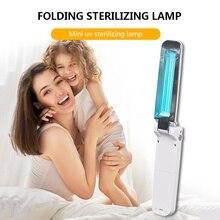 Lampe de désinfection ultraviolette Portable, lampe de stérilisation UVC pliable, lampe de désinfection germicide, USB