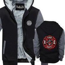 FIREFIGHTER FIRE DEPARTMENT RESCUE EMT pullover men warm coathick jacket fashion brand top hoodies sbz5694