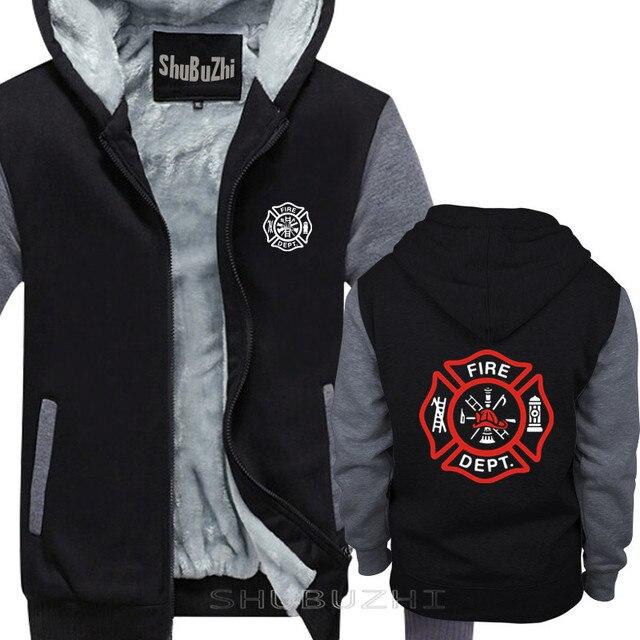 VIGILE DEL FUOCO VIGILI del FUOCO di SALVATAGGIO EMT del pullover degli uomini di caldo coathick giacca di modo di marca top con cappuccio sbz5694
