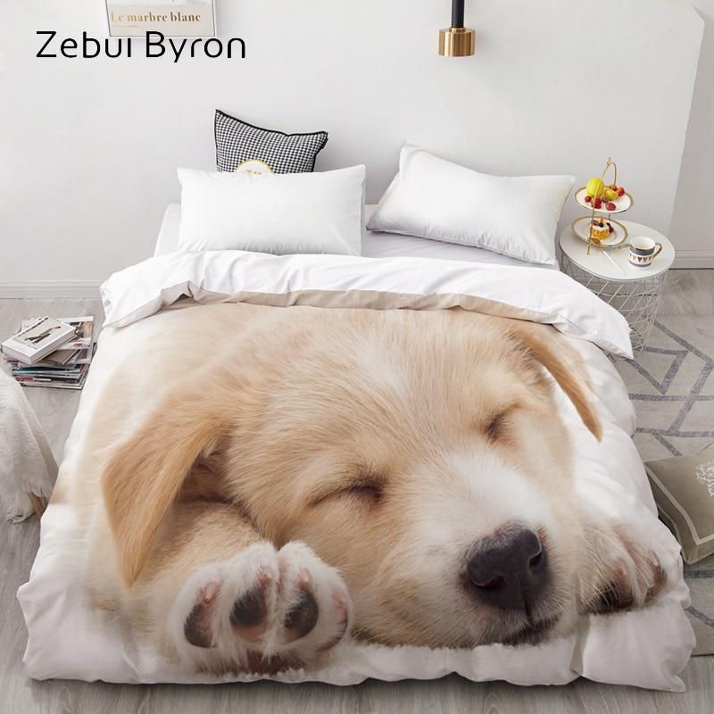 3D Duvet Cover Comforter/Quilt/Blanket case Double/Queen/King Bedding Custom/220x240/200x200 Animal pet Dog pattern Drop ship|Duvet Cover| |  - title=