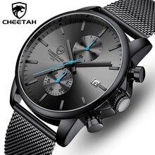 ساعة رجالية من الفهد ساعات ذات علامة تجارية فاخرة للرجال من الفولاذ المقاوم للصدأ ساعة يد كوارتز كرونوغراف ساعة رجالية