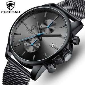 Image 1 - Männer Uhr CHEETAH Top Luxus Marke Uhren Herren Edelstahl Quarz Armbanduhr Chronograph Datum Männlich Uhr Relogio Masculino