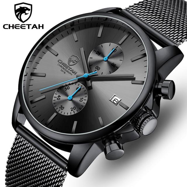 Männer Uhr CHEETAH Top Luxus Marke Uhren Herren Edelstahl Quarz Armbanduhr Chronograph Datum Männlich Uhr Relogio Masculino