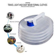 3-15L Outdoor Collapsible Foldable Water Bags Container Camping Hiking Portable Survival Water Storage Carrier Bag Container naturehike factory store outdoor collapsible water container folding bucket storage pe food grade camping foldable water bag