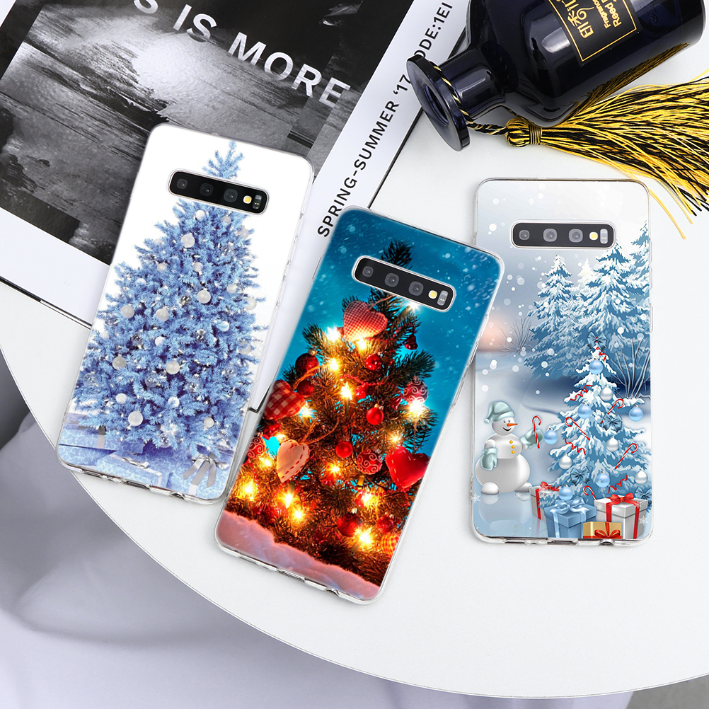 Christmas Tree Case For <font><b>Samsung</b></font> Galaxy A8 Plus A3 A5 A6 A7 <font><b>A9</b></font> 2018 2017 <font><b>2016</b></font> 2015 A10 A20 A30 A60 A70 A80 A40 A50 A10e A10s case image