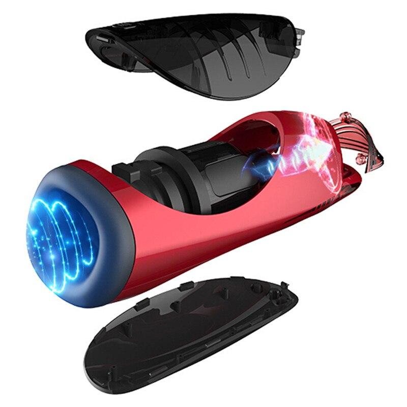 Pipe rotative intelligente électrique mâle masturbateur automatique langues de sexe Oral lécher vibrateur jouets sexuels adultes pour hommes Masturbation