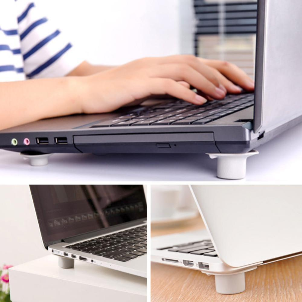 4 Pcs/lot Notebook Accessory Laptop Heat Reduction Pad Cooling Feet Stand Holder Desk Set Stationery Office Accessories Supplies