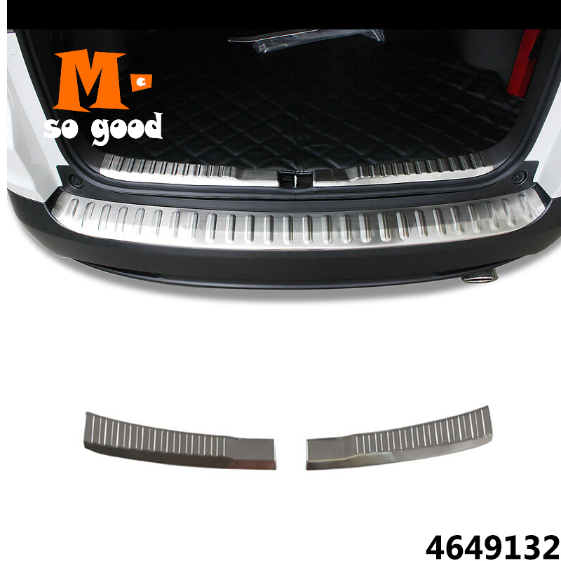 Car Rear Bumper Protector Sill Exterior Guard Pedal Trim 2012-2014 15 2016 Stainless Steel Styling for CRV CR-V Accessories 2pcs