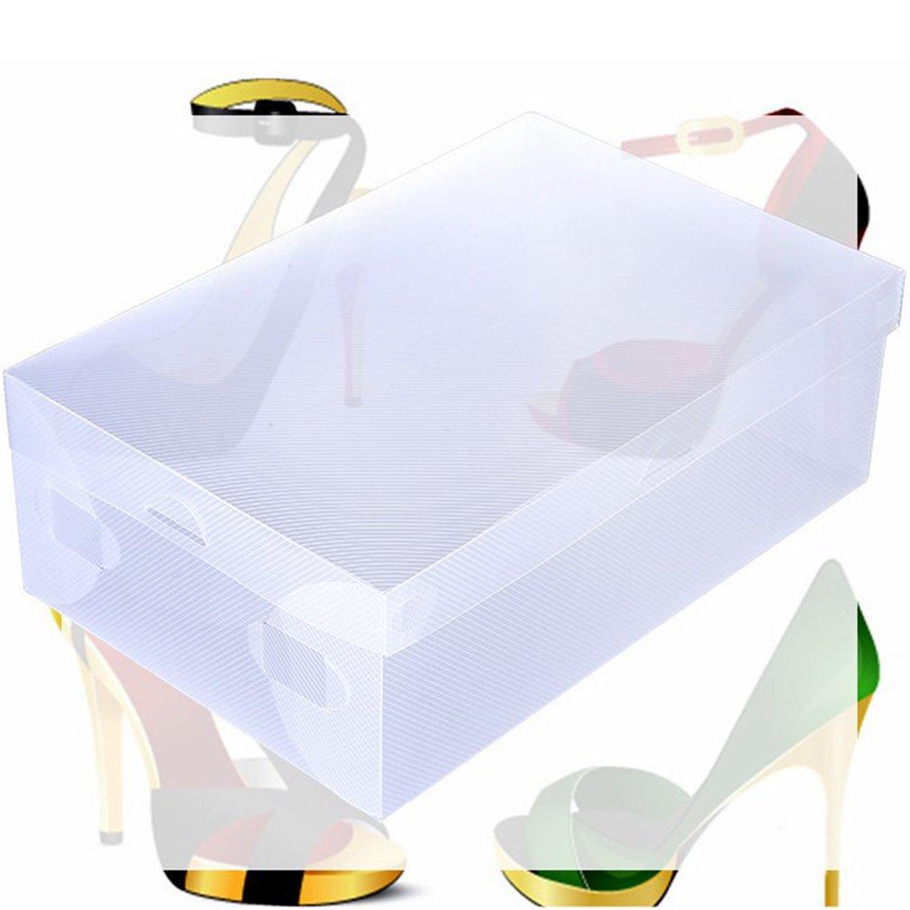 Women/Men 1pcs Transparent Plastic Shoes Storage Boxes Shoes Container Box Case Holder Foldable Shoes Box Shoe Organizer