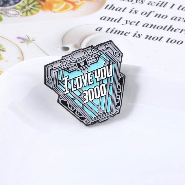 The avengers Iron Man Tony Stark I Love You 3000 Times Badge Doctor Who Enamel Ghostbusters Brooch Pins