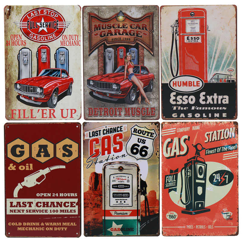Texaco GAS Öl Garage Retro Kunst Eisen Aufkleber Vintage Pub Up Wand Decor Metall Platte Poster Zinn Bar Zeichen Tintin malerei H29