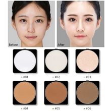 Waterproof Natural Face Powder Mineral Foundations Oil-control Brighten Concealer Whitening Make Up Pressed With Puff