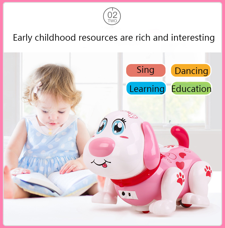 Electronic Toys Musical Singing Walking Reading Puzzle Electric Toy Dog Pet For Kids Child Baby Gift Interactive Electronic Pets