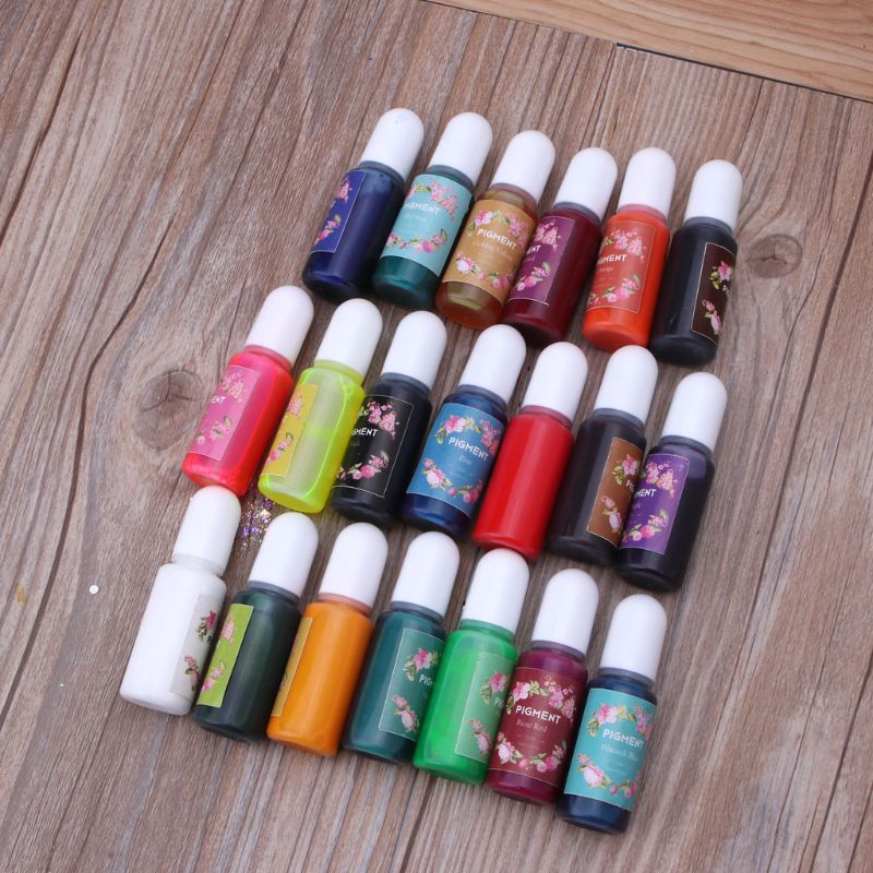 20 Colors/set Epoxy Resin Pigment Kit Liquid  Epoxy UV Resin Coloring Colorant Dye for DIY Jewelry Making Crafts Art Sets dropsh 4