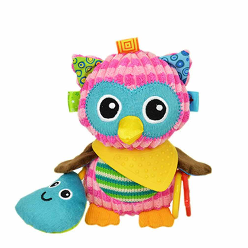 Bright สี Rattles ของเล่นรถเข็นเด็ก Pram Crib แขวนนุ่มของเล่นตุ๊กตาสัตว์คลิปเด็กทารก Crib แขวน Bells ของเล่นสำหรับทารก
