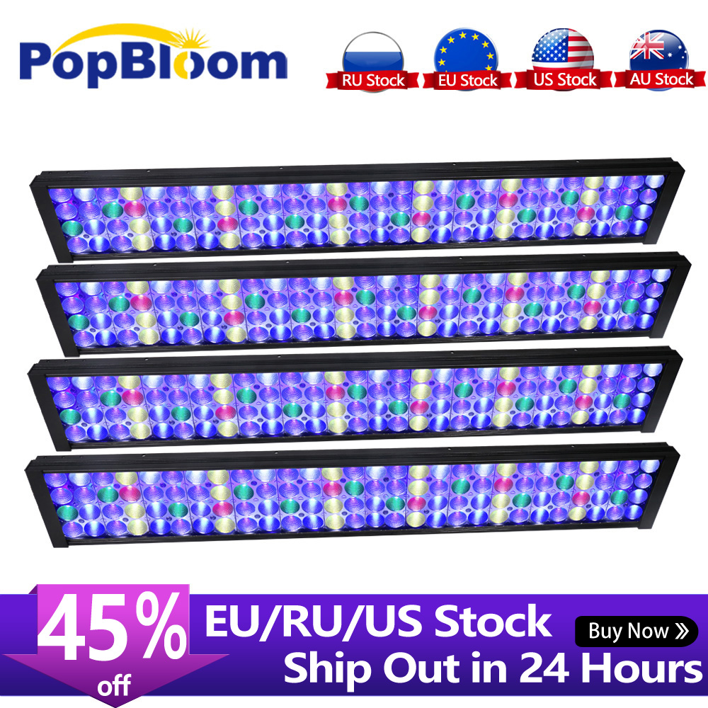 4PCS PopBloom lamp led aquarium full spectrum Led Aquarium Light for Reef fish tank with smart dimmable controller Turing75|Lightings| - AliExpress