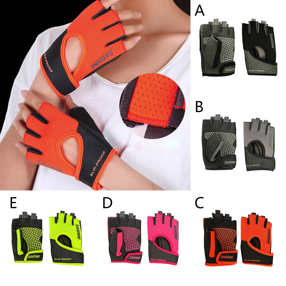 Women's Yoga Fitness Gloves Weight Lifting Training Sports Bicycle Gloves